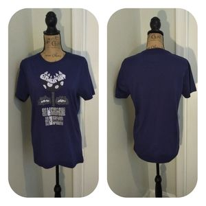 Unisex Blue Urban outfitters graphic tee